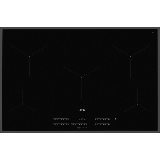 AEG IKE85431FB 78cm Induction Hob - Black - IKE85431FB_BK - 1