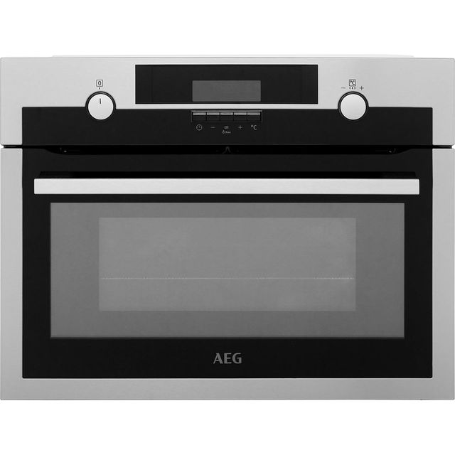 AEG KME561000M Built In Compact Electric Single Oven with Microwave Function - Stainless Steel - KME561000M_SS - 1