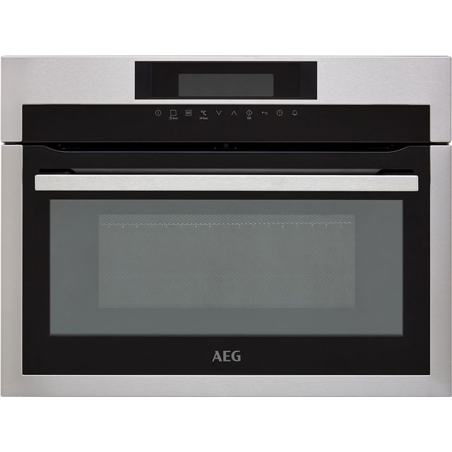 AEG KME761000M Built In Compact Electric Single Oven with Microwave Function - Stainless Steel - KME761000M_SS - 1