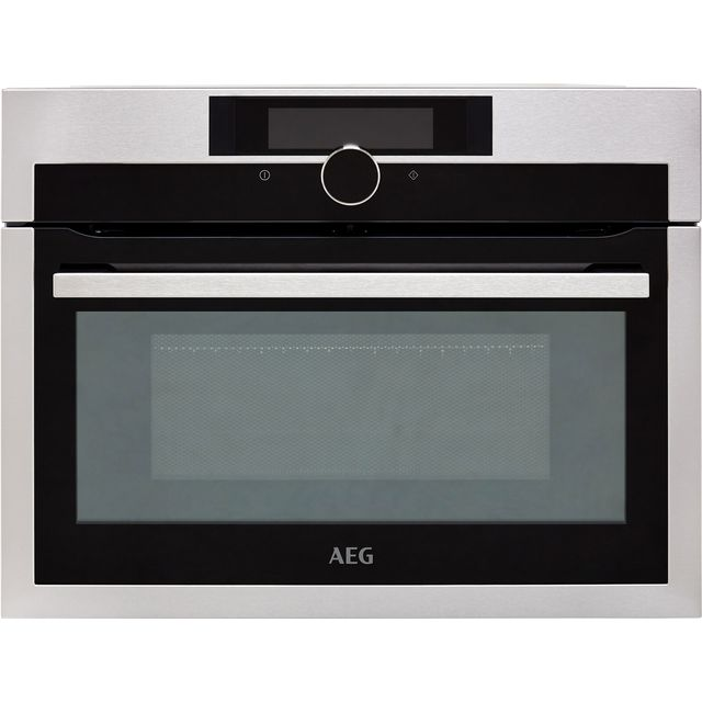 AEG KME861000M Built In Compact Electric Single Oven with Microwave Function - Stainless Steel - KME861000M_SS - 1