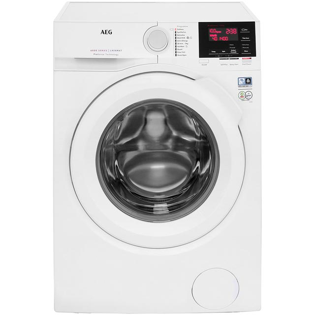 AEG ProSense Technology L6FBG141R Free Standing Washing Machine in White