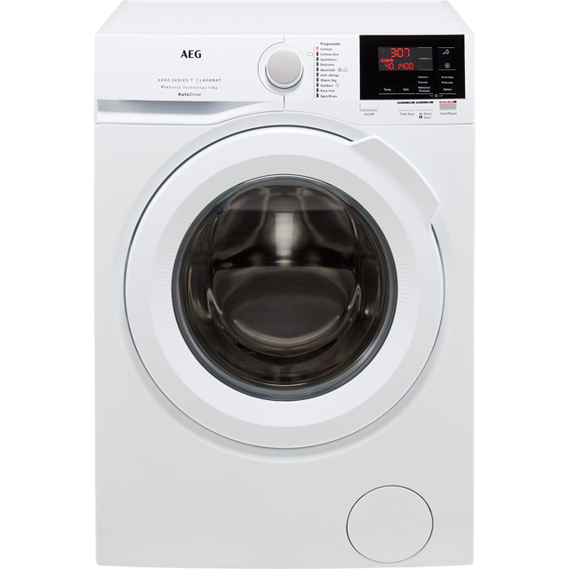 AEG ProSense Technology L6FBG841CA Wifi Connected 8Kg Washing Machine with 1400 rpm - White - A+++ Rated - L6FBG841CA_WH - 1