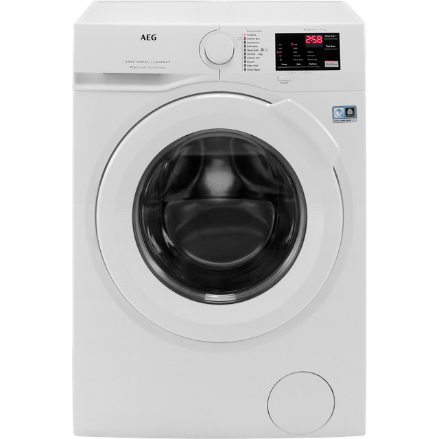 AEG ProSense Technology L6FBI741N 7Kg Washing Machine with 1400 rpm - White - A+++ Rated - L6FBI741N_WH - 1
