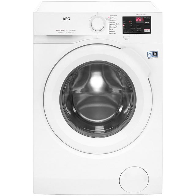 AEG ProSense Technology L6FBI841N Free Standing Washing Machine in White