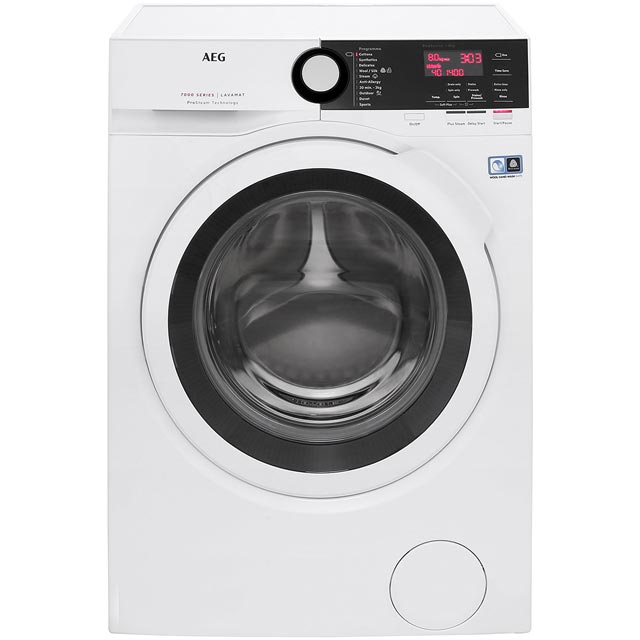 AEG ProSteam Technology L7FBE841R Free Standing Washing Machine in White