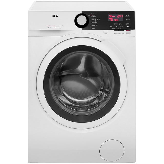 AEG ProSteam Technology L7FBE941R 9Kg Washing Machine with 1400 rpm - White - A+++ Rated
