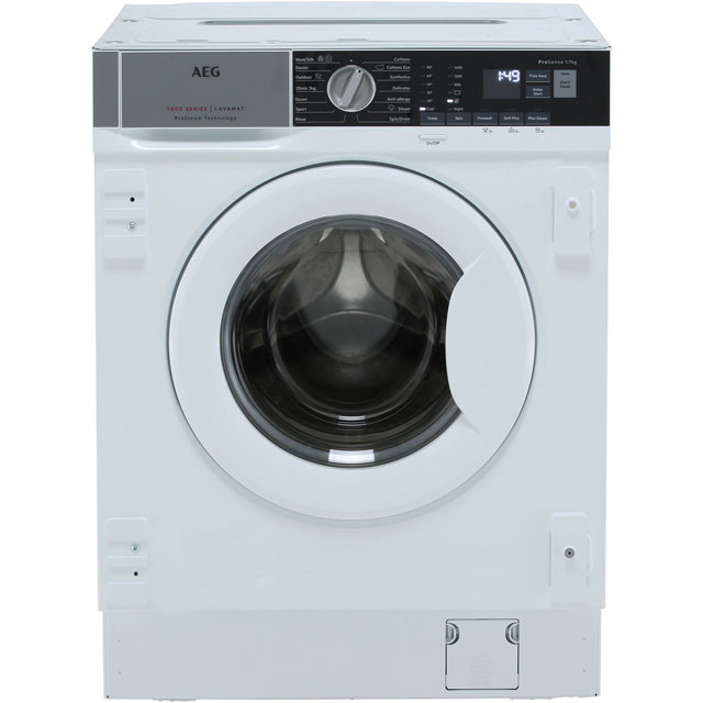 AEG ProSteam Technology L7FE7461BI Built In Washing Machine - White - L7FE7461BI_WH - 1