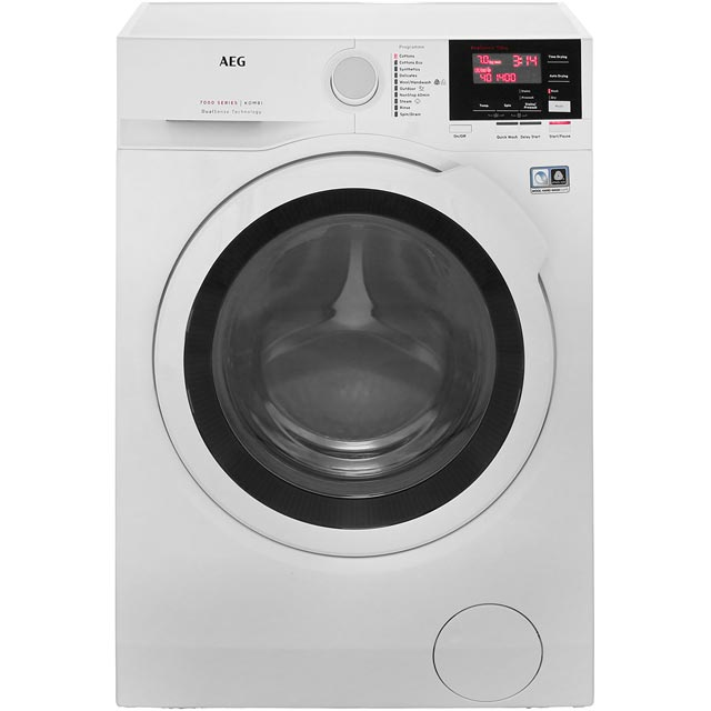 AEG DualSense Technology Free Standing Washer Dryer in White