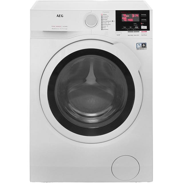 AEG DualSense Technology L7WBG741R Free Standing Washer Dryer in White