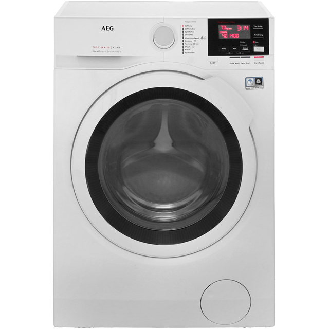 AEG DualSense Technology L7WBG741R Washer Dryer - White - L7WBG741R_WH - 1