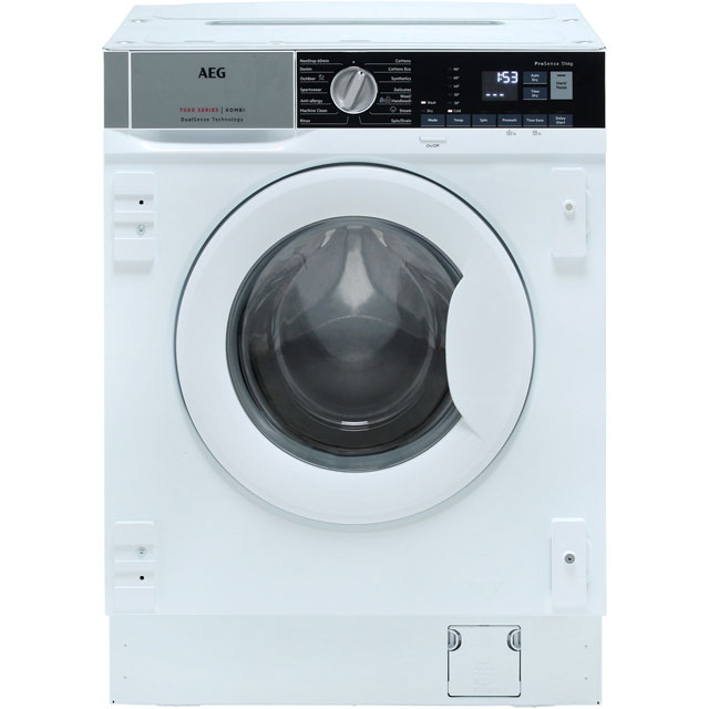 AEG L7WE7631BI Built In Washer Dryer - White - L7WE7631BI_WH - 1