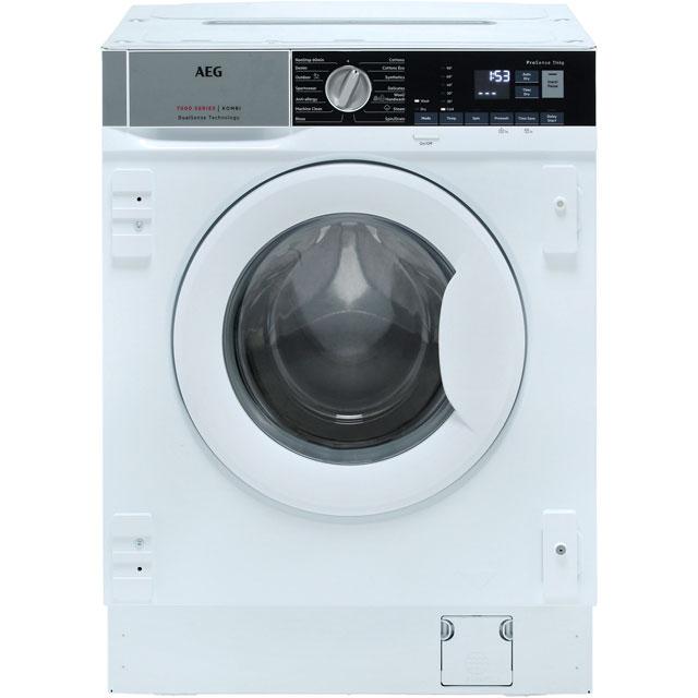 AEG L7WE7631BI Integrated Washer Dryer in White