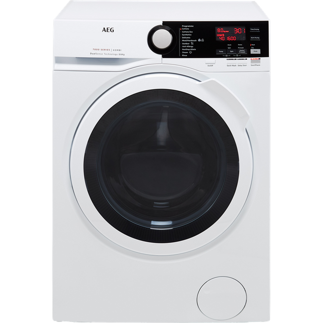 AEG DualSense Technology L7WEE861R 8Kg / 6Kg Washer Dryer with 1550 rpm - White - A Rated - L7WEE861R_WH - 1