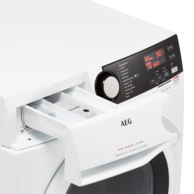 AEG DualSense Technology L7WEE861R Washer Dryer - White - L7WEE861R_WH - 5