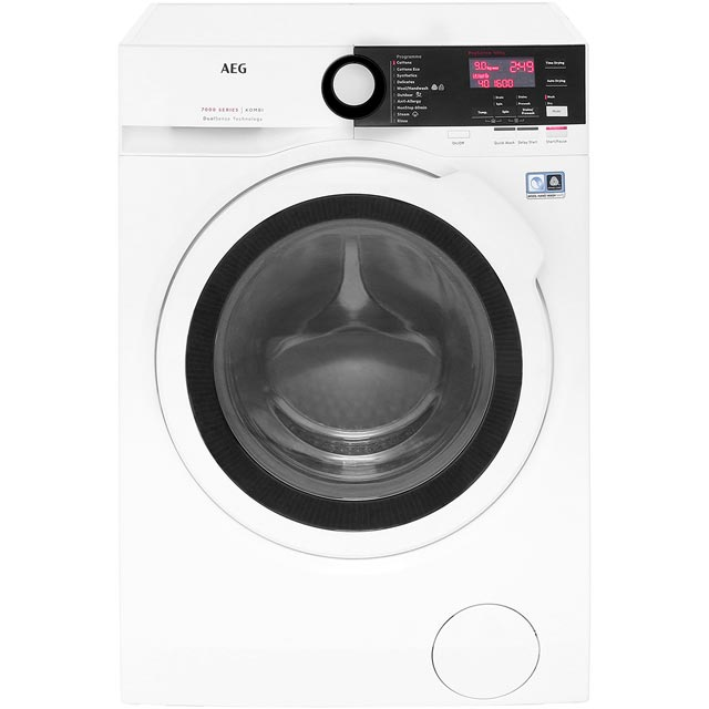 AEG DualSense Technology L7WEE961R Free Standing Washer Dryer in White