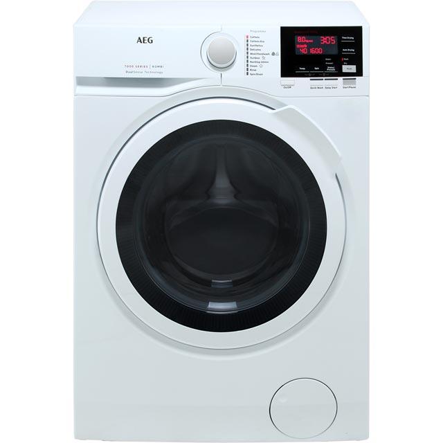 AEG DualSense Technology L7WEG841R Free Standing Washer Dryer in White