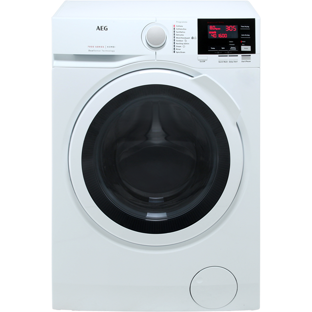 AEG DualSense Technology L7WEG841R Washer Dryer - White - L7WEG841R_WH - 1