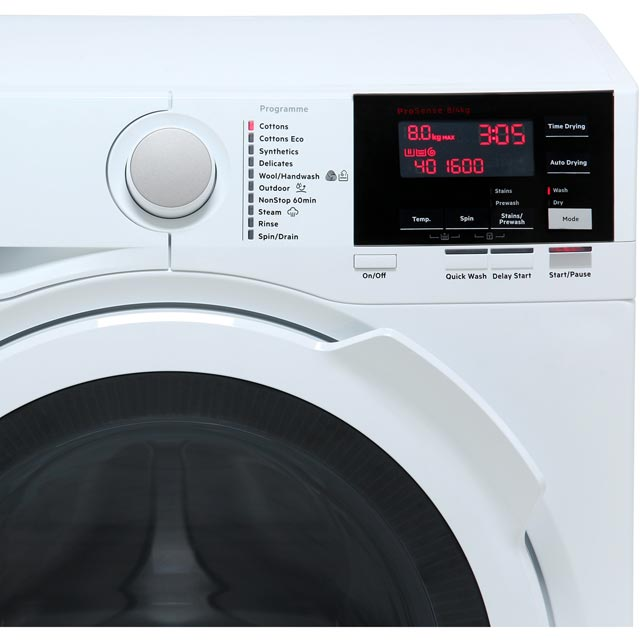 AEG DualSense Technology L7WEG841R Washer Dryer - White - L7WEG841R_WH - 2