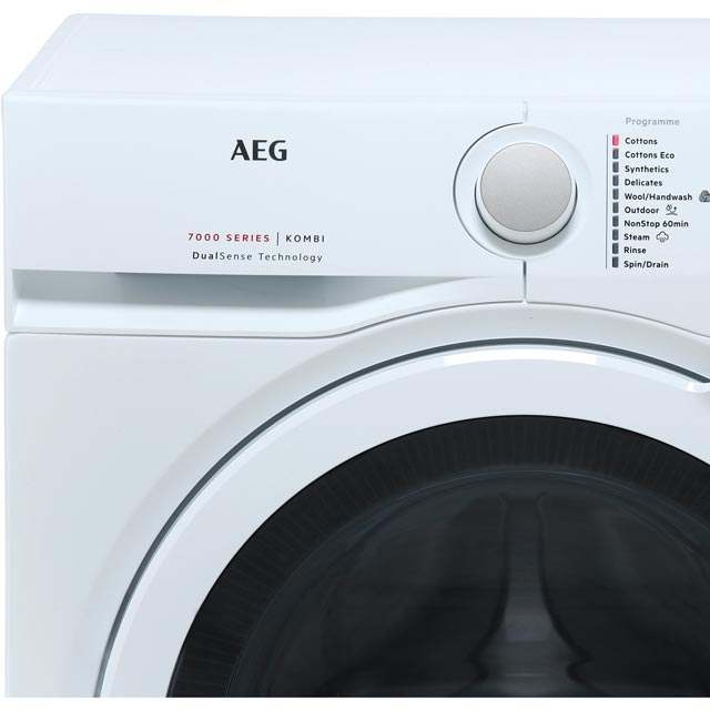 AEG DualSense Technology L7WEG841R Washer Dryer - White - L7WEG841R_WH - 3