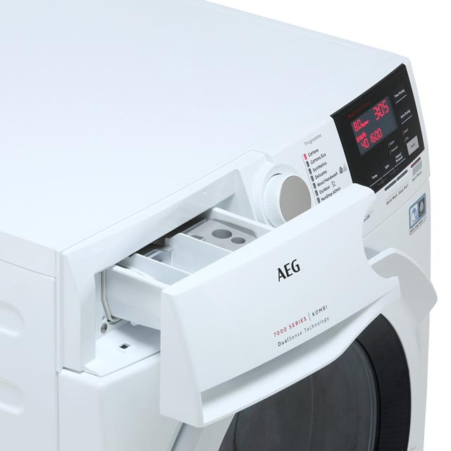 AEG DualSense Technology L7WEG841R Washer Dryer - White - L7WEG841R_WH - 4