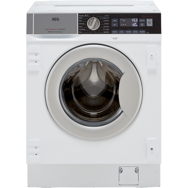 AEG OkoMix Technology L8FC8432BI Integrated 8Kg Washing Machine with 1400 rpm - A+++ Rated