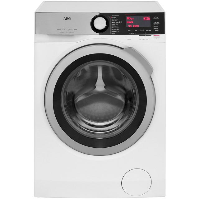 AEG OkoMix Technology L8FEC866R Free Standing Washing Machine in White