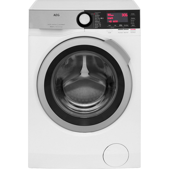 AEG OkoMix Technology L8FEC866R 8Kg Washing Machine with 1600 rpm - White - A+++ Rated - L8FEC866R_WH - 1
