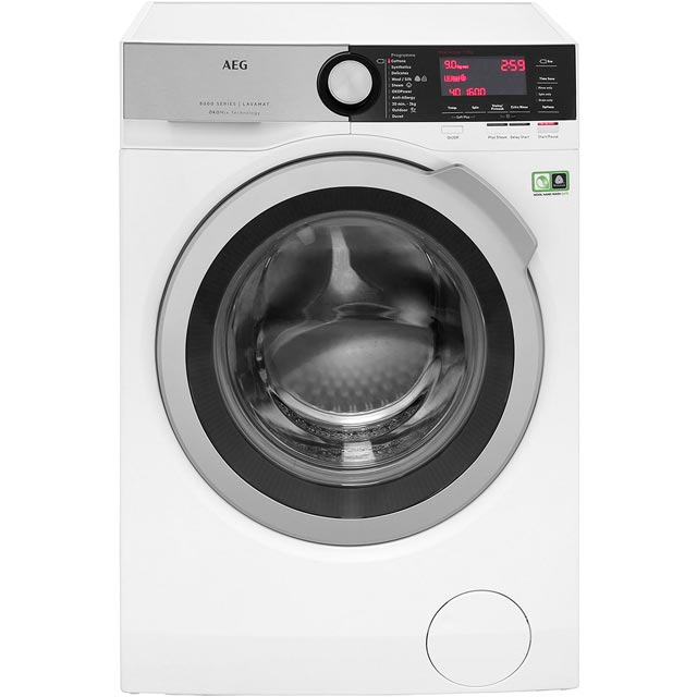 AEG OkoMix Technology L8FEC966R Free Standing Washing Machine in White