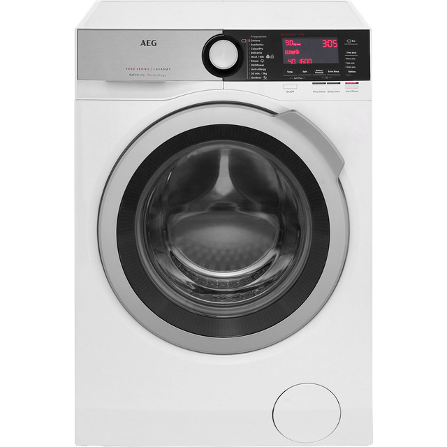 AEG Softwater Technology L9FEC966R 9Kg Washing Machine with 1600 rpm - White - A+++ Rated - L9FEC966R_WH - 1