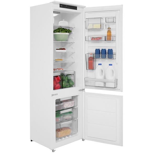 AEG SCE81824TS Integrated 70/30 Frost Free Fridge Freezer with Sliding Door Fixing Kit - White - A++ Rated