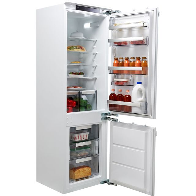 AEG SCE8182XNC Integrated 70/30 Frost Free Fridge Freezer with Fixed Door Fixing Kit - White - A++ Rated - SCE8182XNC_WH - 1