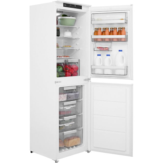 AEG SCE8182XTS Integrated 50/50 Frost Free Fridge Freezer with Sliding Door Fixing Kit - White - A++ Rated - SCE8182XTS_WH - 1