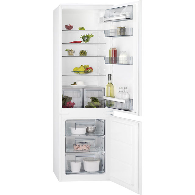 AEG SCS6181VLS Integrated 70/30 Fridge Freezer with Sliding Door Fixing Kit - White - A+ Rated
