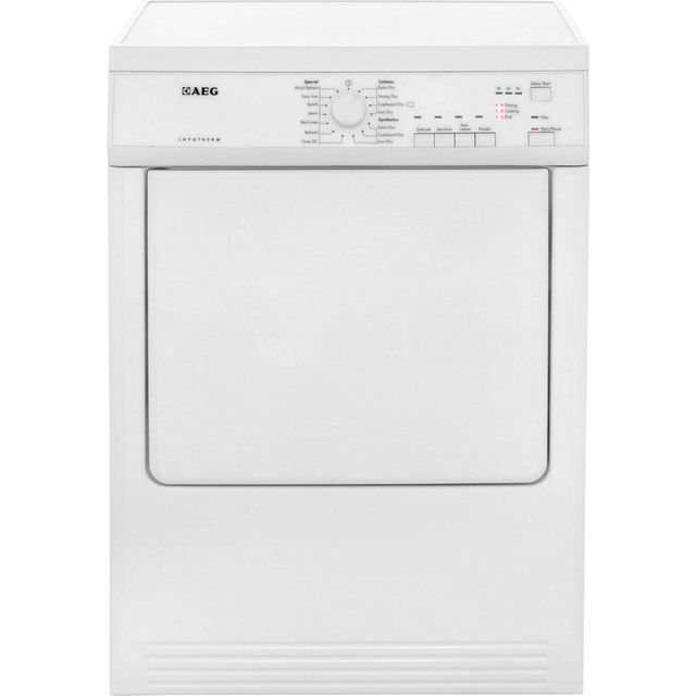 AEG T65170AV Vented Tumble Dryer - White - T65170AV_WH - 1