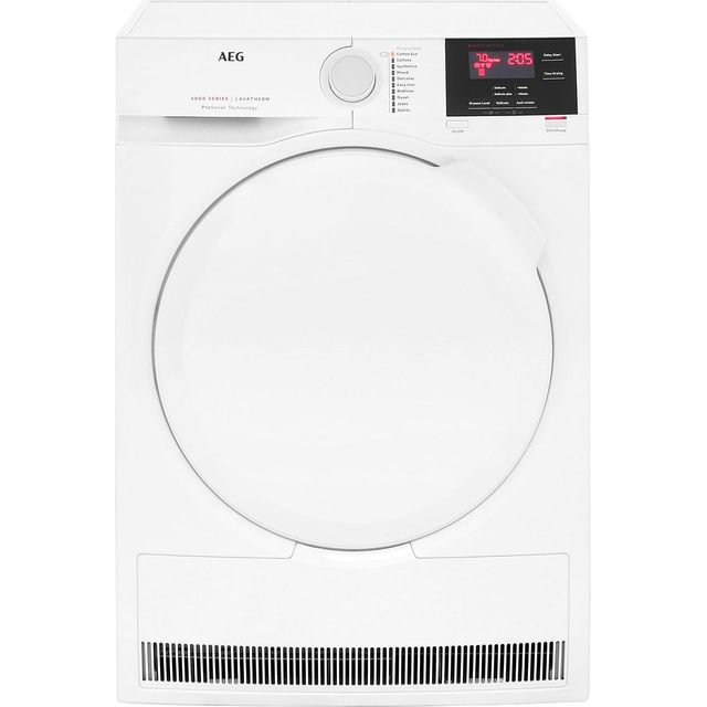 AEG ProSense Technology T6DBG720N 7Kg Condenser Tumble Dryer - White - B Rated