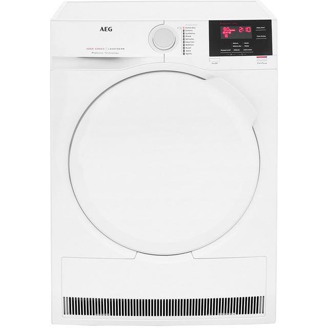 AEG ProSense Technology T6DBG820N Free Standing Condenser Tumble Dryer in White