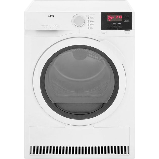 AEG ProSense Technology T6DBG821N Free Standing Condenser Tumble Dryer in White
