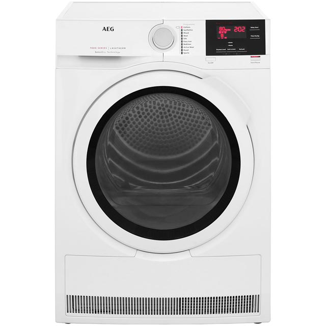 AEG SensiDry Technology 8Kg Heat Pump Tumble Dryer - White - A+ Rated
