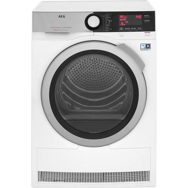 AEG AbsoluteCare Technology T8DEC846R 8Kg Heat Pump Tumble Dryer - White - A++ Rated - T8DEC846R_WH - 1