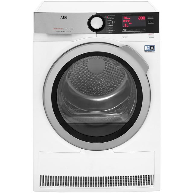 AEG AbsoluteCare Technology T8DEC946R 9Kg Heat Pump Tumble Dryer - White - A++ Rated - T8DEC946R_WH - 1