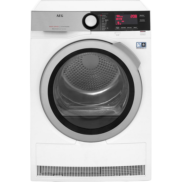 AEG AbsoluteCare Technology T8DEC946R 9Kg Heat Pump Tumble Dryer - White - A++ Rated