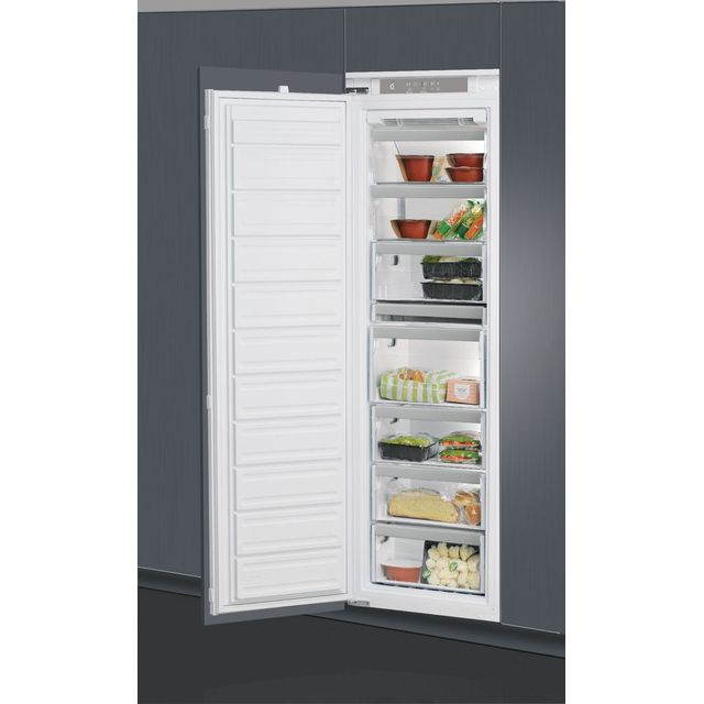 Whirlpool AFB1843A+.1 Integrated Frost Free Upright Freezer with Sliding Door Fixing Kit - A+ Rated