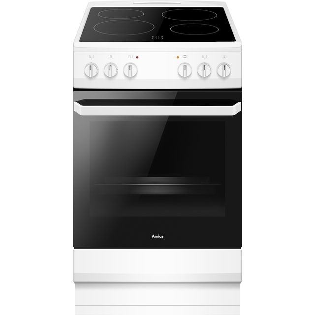 Amica AFC1530WH Dual Fuel Cooker - White - A Rated - Needs 9.5KW Electrical Connection