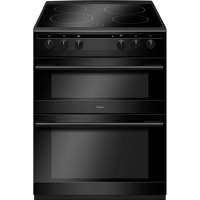 Amica AFC6520BL 60cm Electric Cooker with Ceramic Hob - Black - A/A Rated - AFC6520BL_BK - 1