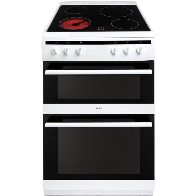 Amica AFC6520WH Electric Cooker with Ceramic Hob - White - A/A Rated