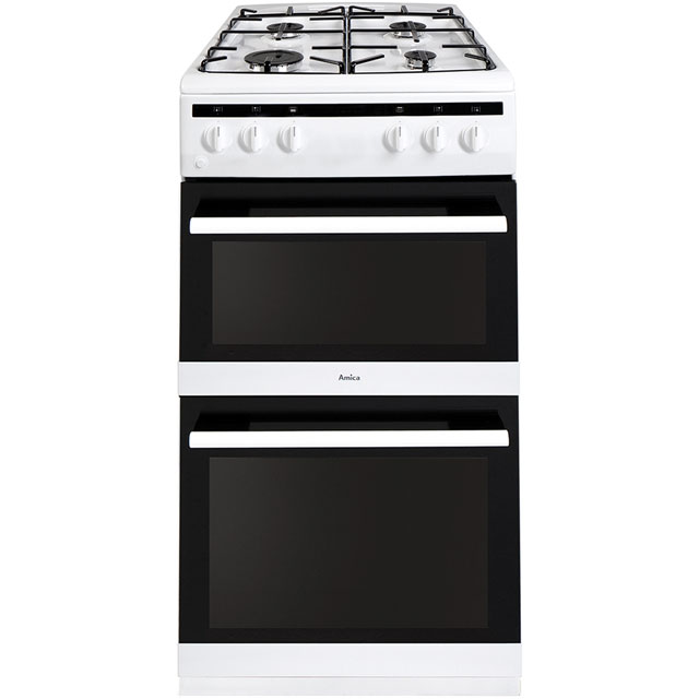 Amica AFG5500WH 50cm Gas Cooker with Full Width Gas Grill - White - A/A Rated