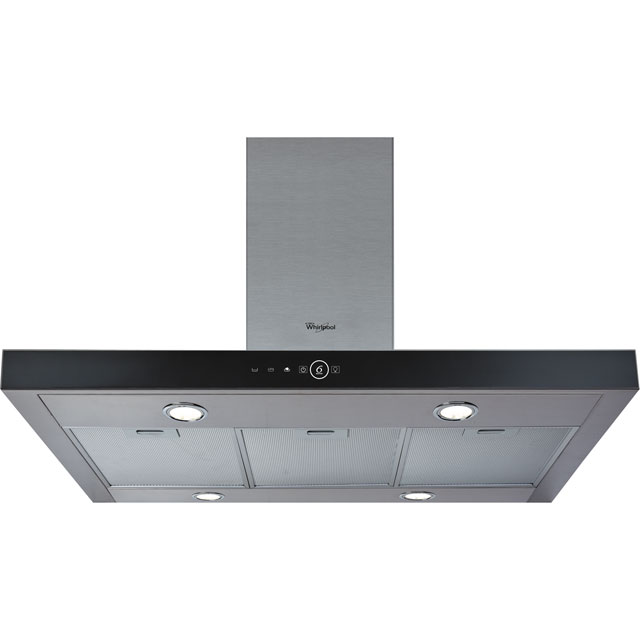 Whirlpool AKR504UKIX 100 cm Island Cooker Hood - Stainless Steel - B Rated