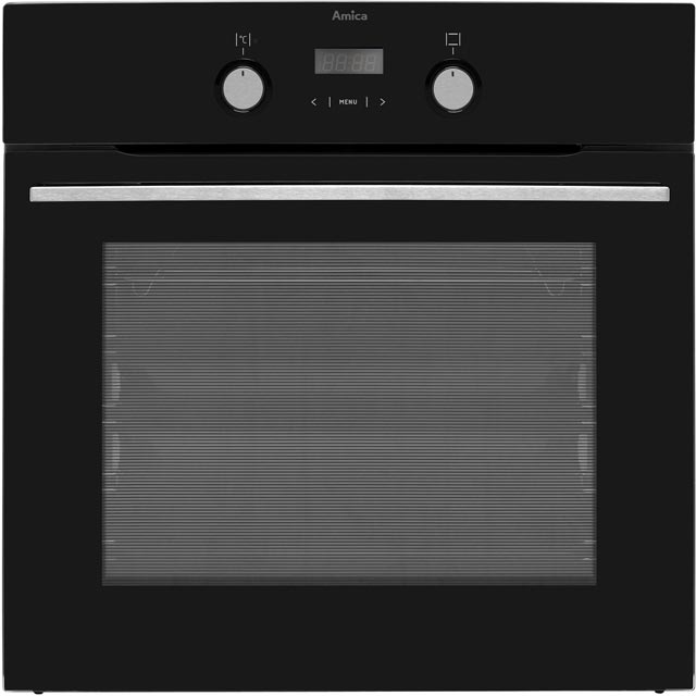 Amica 11433TSB Built In Electric Single Oven - Black - A Rated - 11433TSB_BK - 1