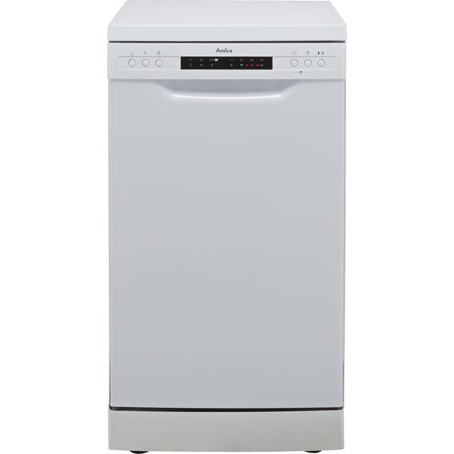Amica ADF450WH Slimline Dishwasher - White - E Rated