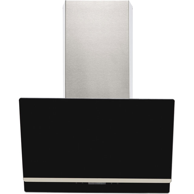 Amica AEA60BL 60 cm Angled Chimney Cooker Hood - Black - B Rated